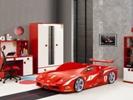Ferrari bed rood met verlichting