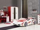 Ferrari bed wit met verlichting