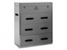 Chest of drawers Steel brown